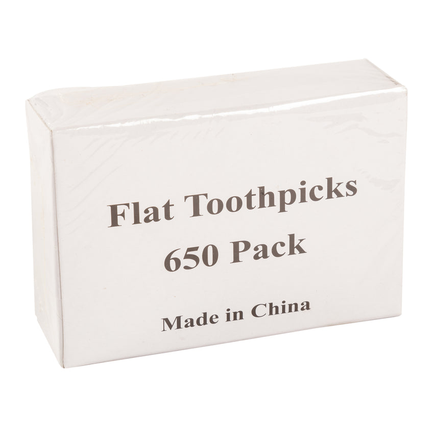 Toothpick Flat Plain, Case 650x24