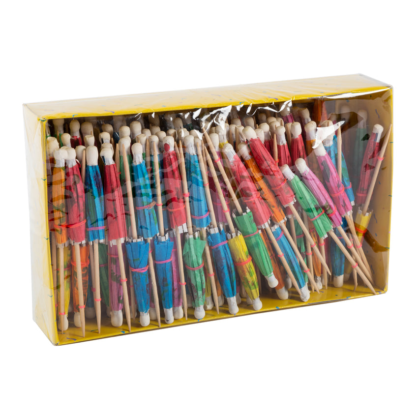 "Toothpick Umbrella 4"" Assorted Colour, Case 144x5"