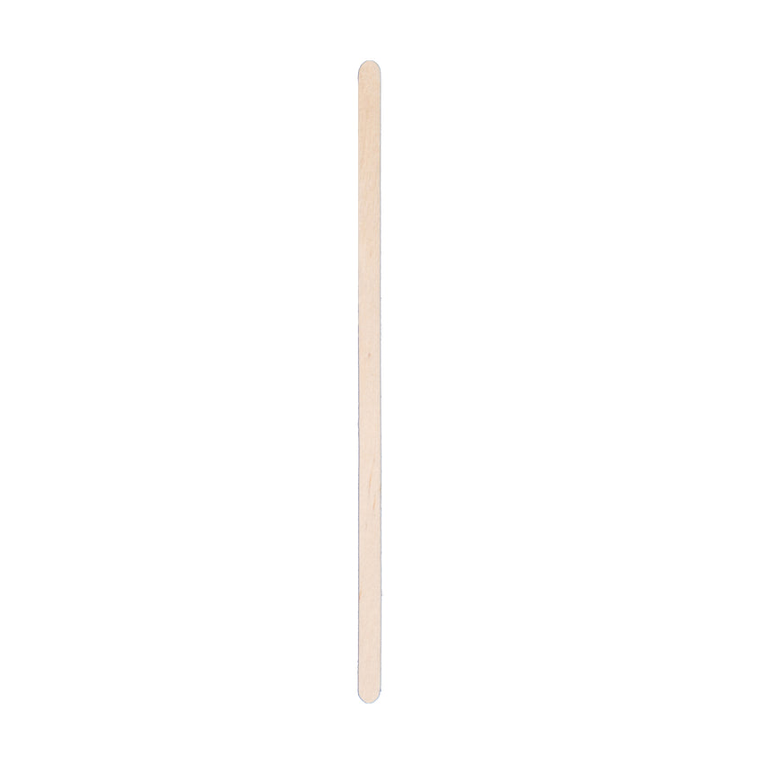 "Wooden Stirrer Coffee Round End 4.5"", Case 1000x10"