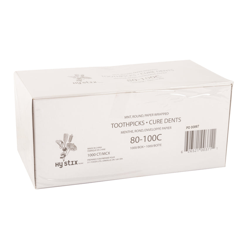 Toothpick Mint Paper Wrapped, Case 1000x12