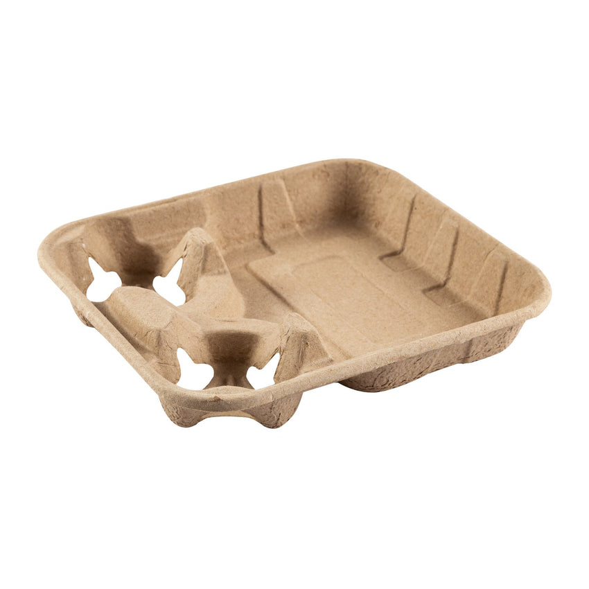 Food Tray With 8-32 oz 2 Cup Carrier, Tilted View