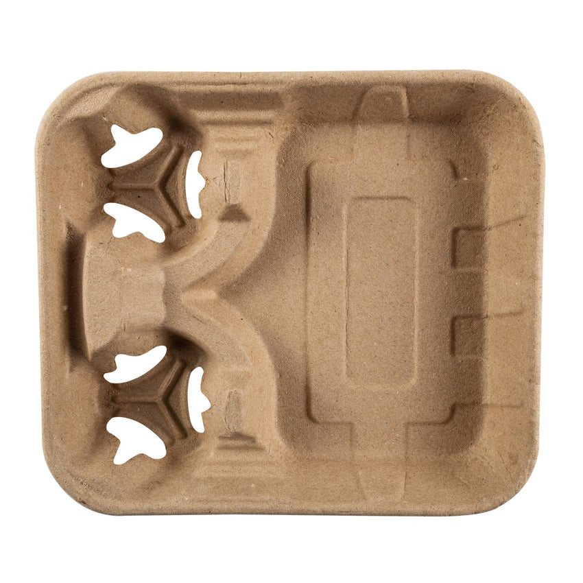 Food Tray With 8-32 oz 2 Cup Carrier, Overhead View