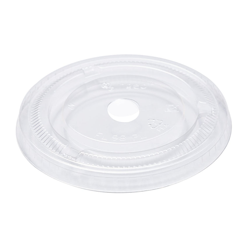 12-24 oz Compostable Clear CPLA Flat Lid