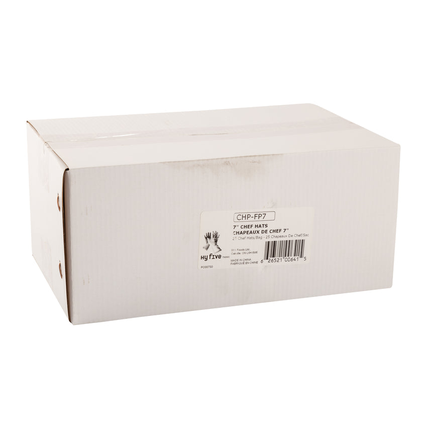 "Chef Hat Paper 7"" Flat Pack, Case 25x4"