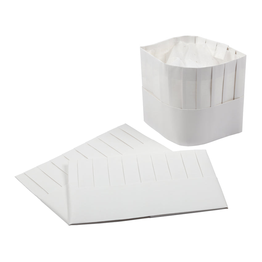"Chef Hat Paper 7"" Flat Pack, Case 25"