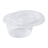 2 oz Compostable Clear PLA Lid, Opened Cup With Lid
