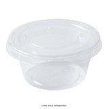 2 oz Compostable Clear PLA Lid, Closed Cup With Lid