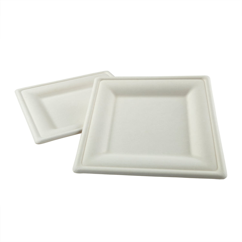 "10"" Square Plates, Two Plates Stacked"