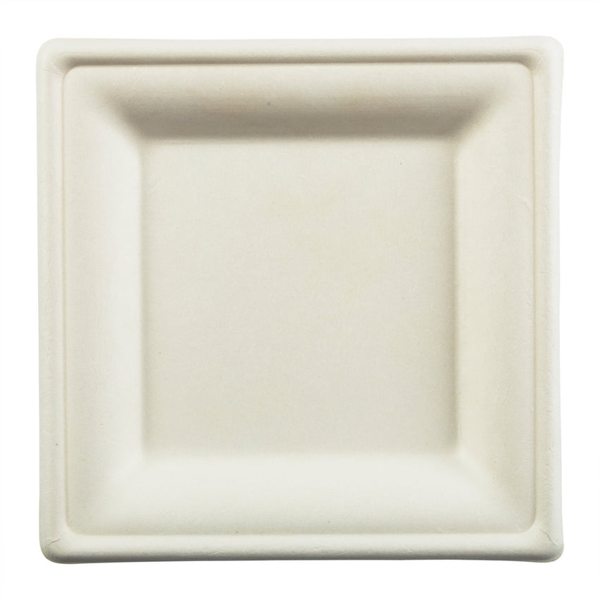 "6"" Square Plates, Overhead View"