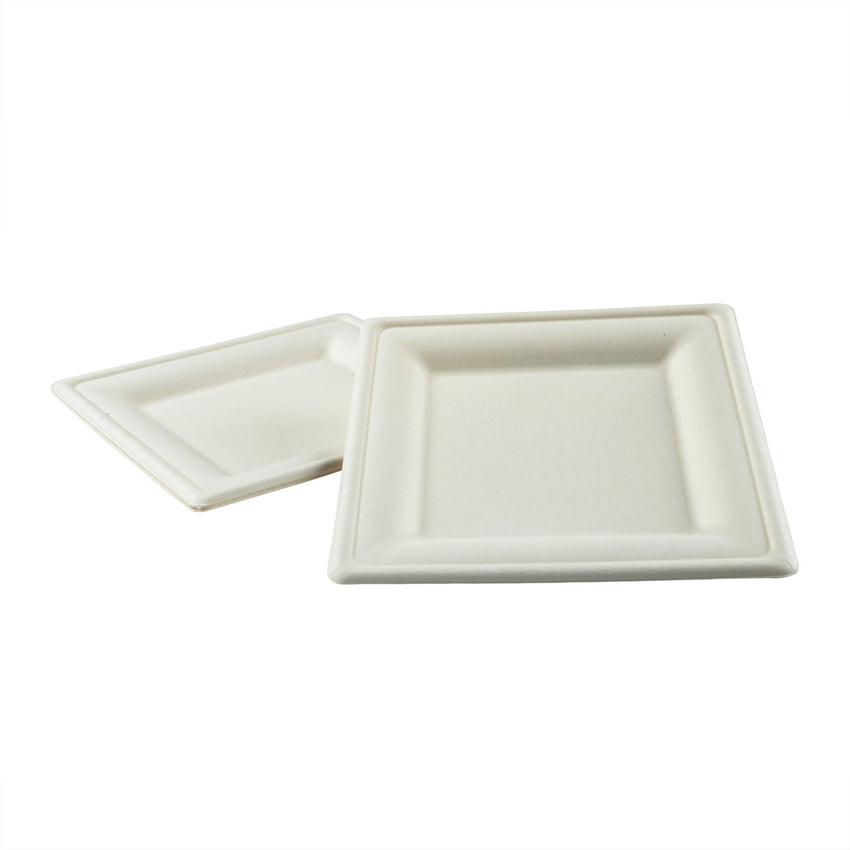 "8"" Square Plates, Two Plates Stacked"