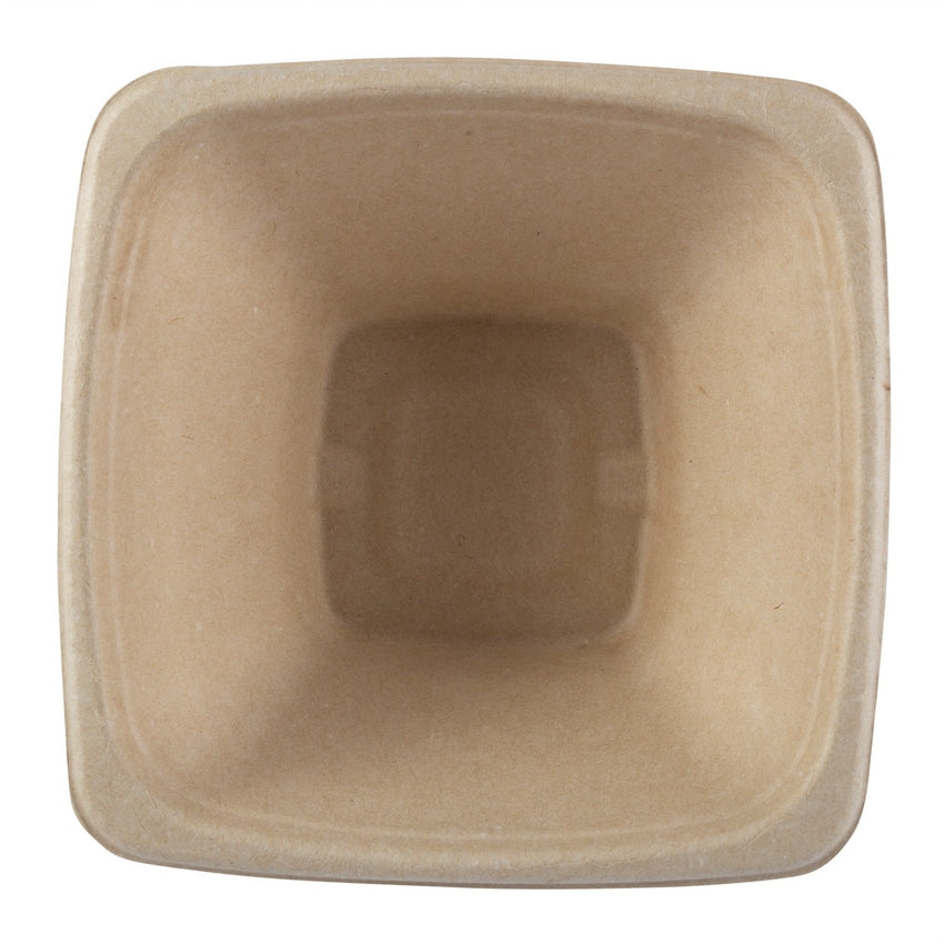 40 oz Tan Bowls Square, Overhead View