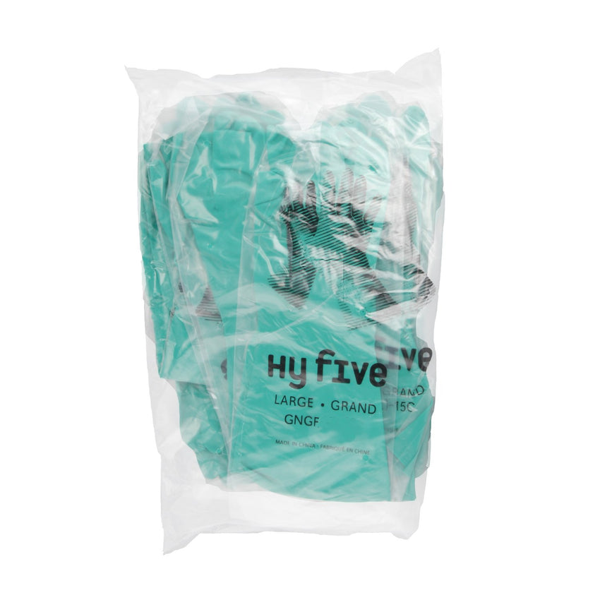 Glove Hsld Nitrile Green Flocklined, Case 12x10