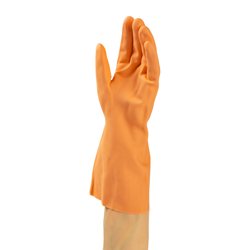 Glove Rubber HW Orange Flocklined, Case 6