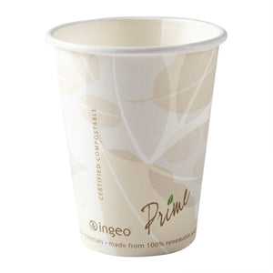 8 oz Compostable PLA Lined Hot Cups