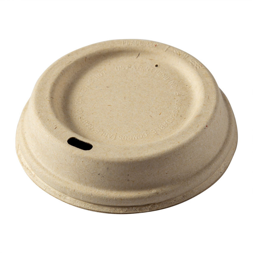 12-20 oz Fiber Lids, Tilted Side View