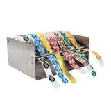 Day Dot Label Dispenser Stainless Steel, Case 1