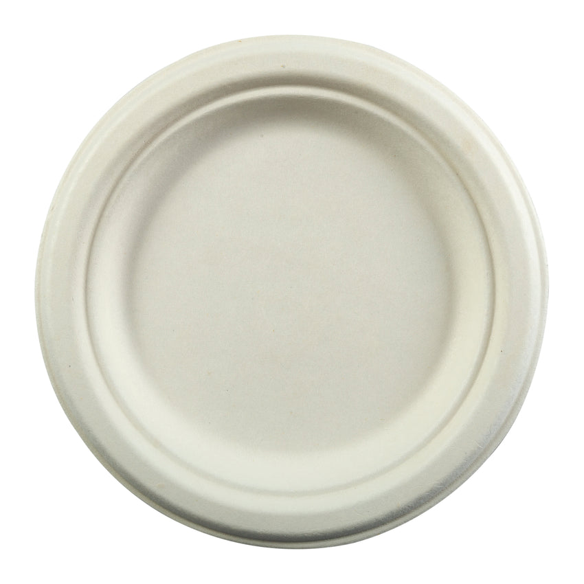 "Plate Bagasse 7"", Case 125x8"