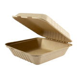 Clamshell Bagasse Large Palm Plus, Case 50x4