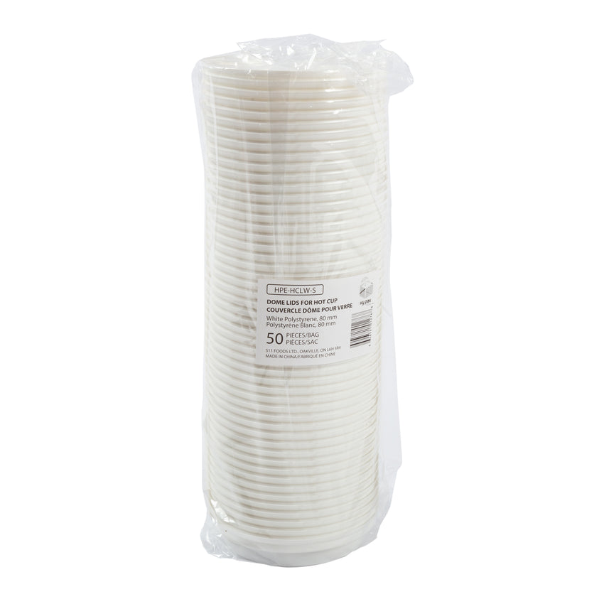 Lid Hot Cup 80mm White