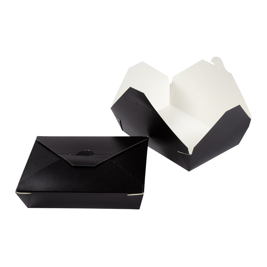 Take Out Food Container #2 Black, Case 50x4