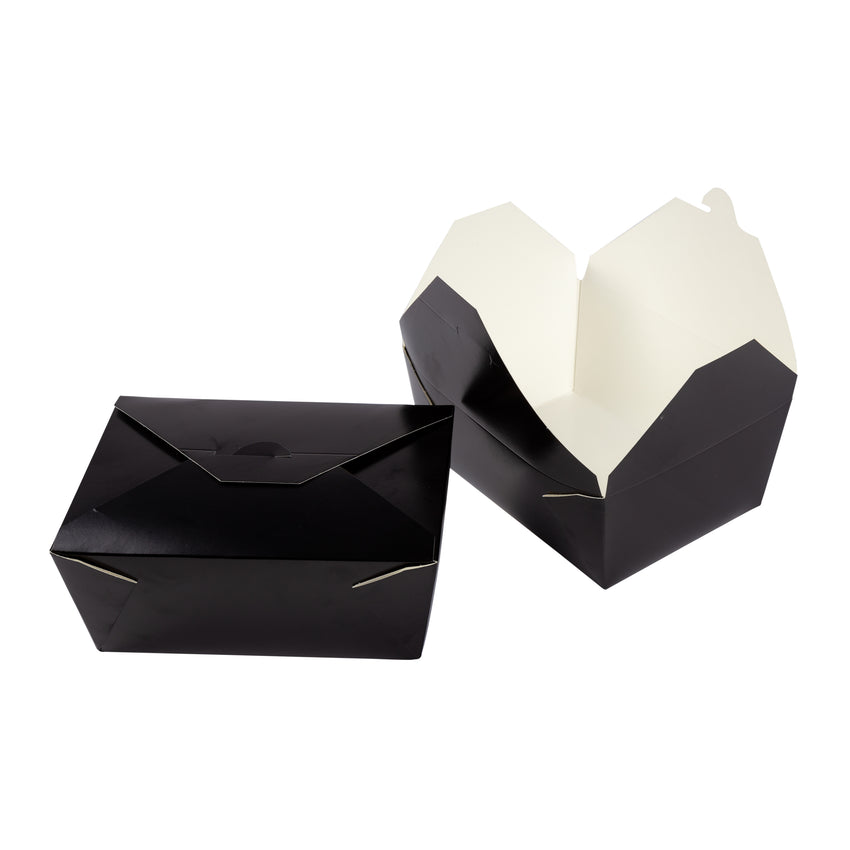 Take Out Food Container #4 Black, Case 40x4