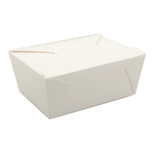 Take Out Food Container #4 White, Case 40x4