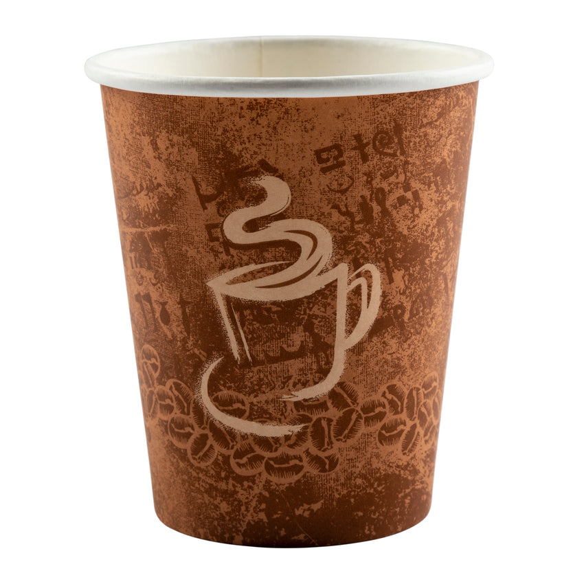 Cup Hot Paper Single Wall 8oz, Case 50x20