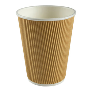 Cup Hot Kraft Ripple 12oz Nature, Case 40x25