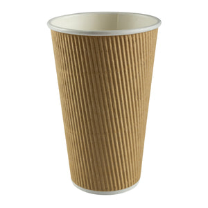 Cup Hot Kraft Ripple 16oz Nature, Case 25x20