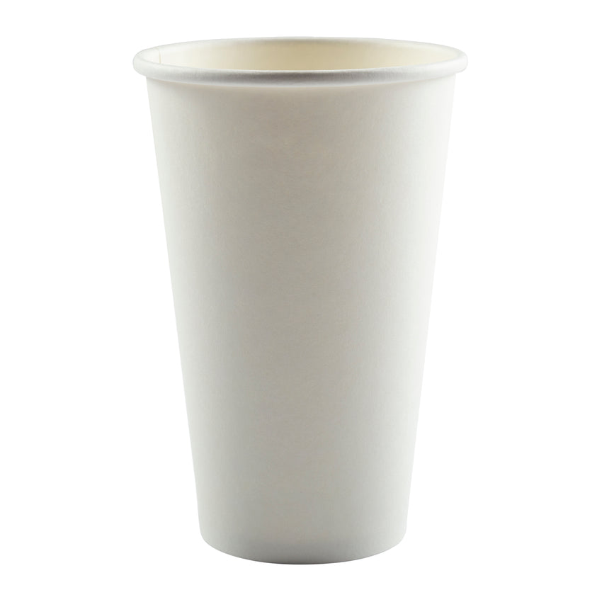 Cup Hot Paper Single Wall 16oz Plain, Case 50x20