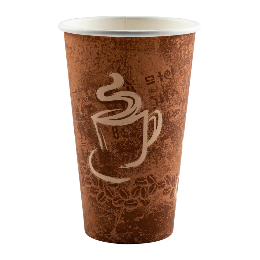 Cup Hot Paper Single Wall 16oz, Case 50x20