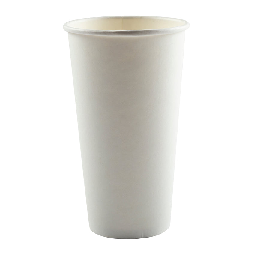 Cup Hot Paper Single Wall 20oz Plain, Case 50x12