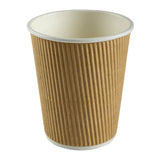 Cup Hot Kraft Ripple 8oz Nature, Case 40x25