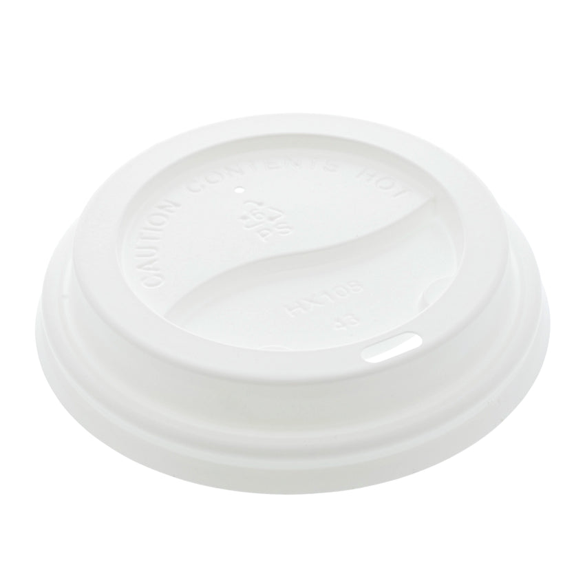 Lid Hot Cup 90mm White, Case 50x20