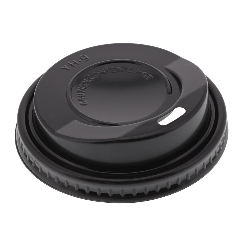 Lid for 8oz Ideal Feel Hot Cup Black, Case 50x20