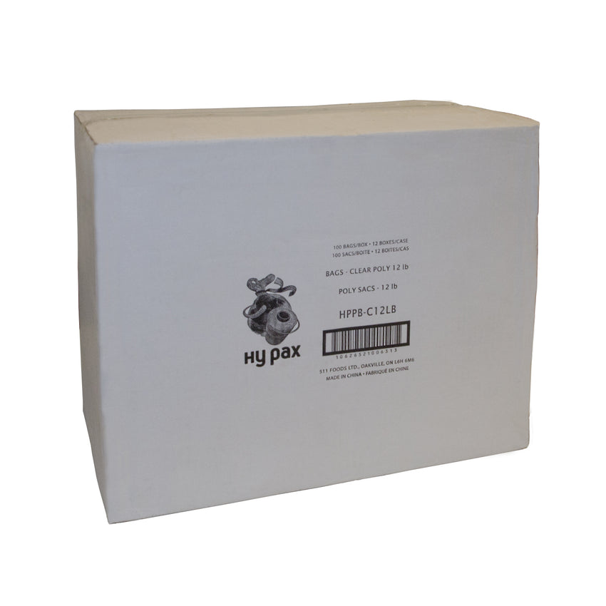 Bag Poly 12lb Clear, Case 100x12