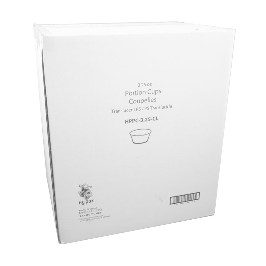 Portion Cup 3.25oz Clear, Case 100x24