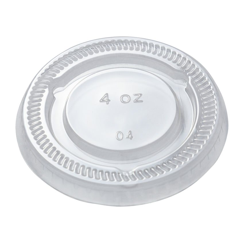 Lid for Portion Cup PET 3.25 & 4oz Clear, Case 100x24