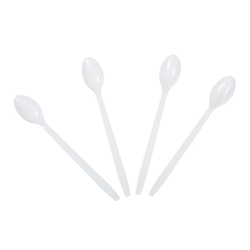 "Soda Spoon Polystyrene 8"" White, Case 500x2"