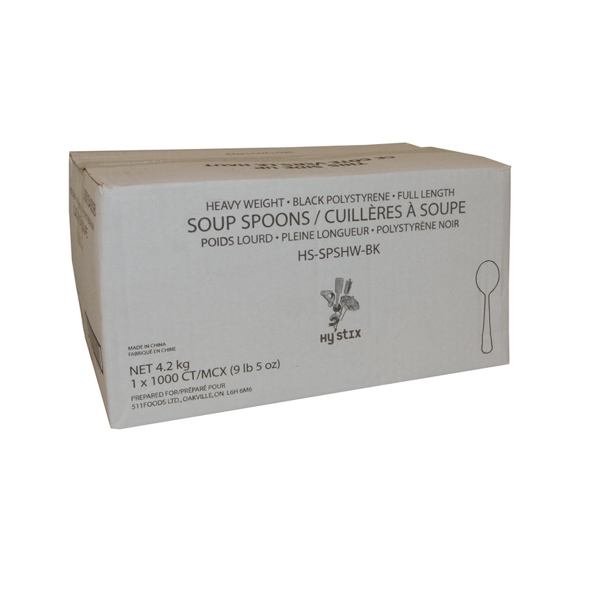 Soup Spoon HW Polystyrene Black, Case 1000