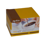 "Stirrer Coffee Flat Plastic 4.5"" Brown, Case 1000x10"