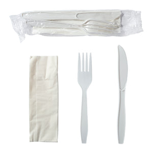 Meal Kit 3pc MW Polypropylene White, Case 500