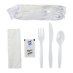 Meal Kit 6pc MW Polystyrene White, Case 500