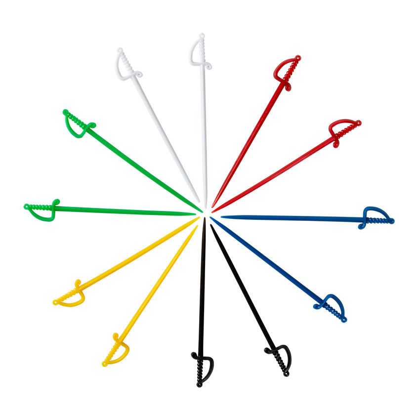 "Sword Pick 4.5"" Assorted Colours, Case 2000"