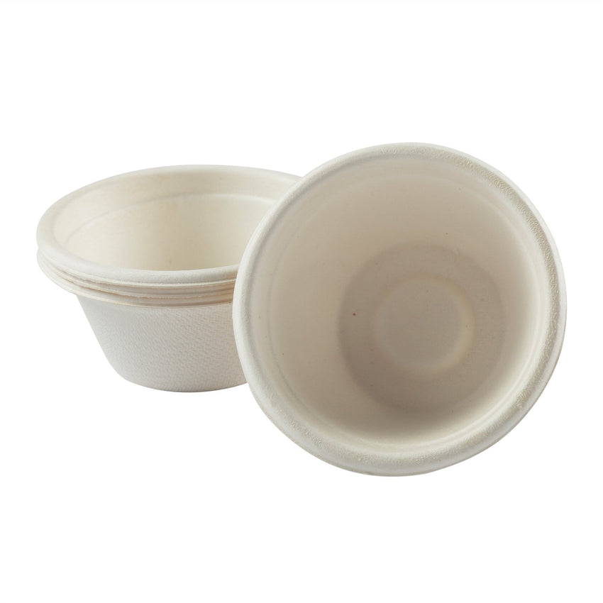 2 oz Fiber Portion Cups, Cups Side by Side