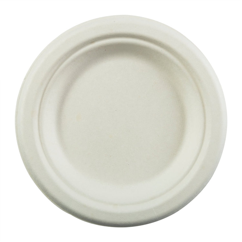 "6"" Round Plates, Overhead View"