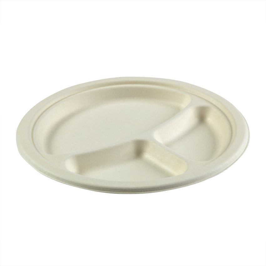 "9"" 3-Section Round Plates"