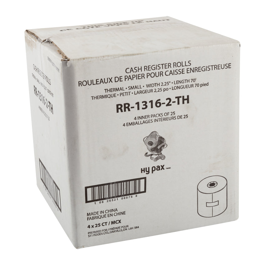"Register Roll Thermal Paper 2.25""x70', Case 25x4"