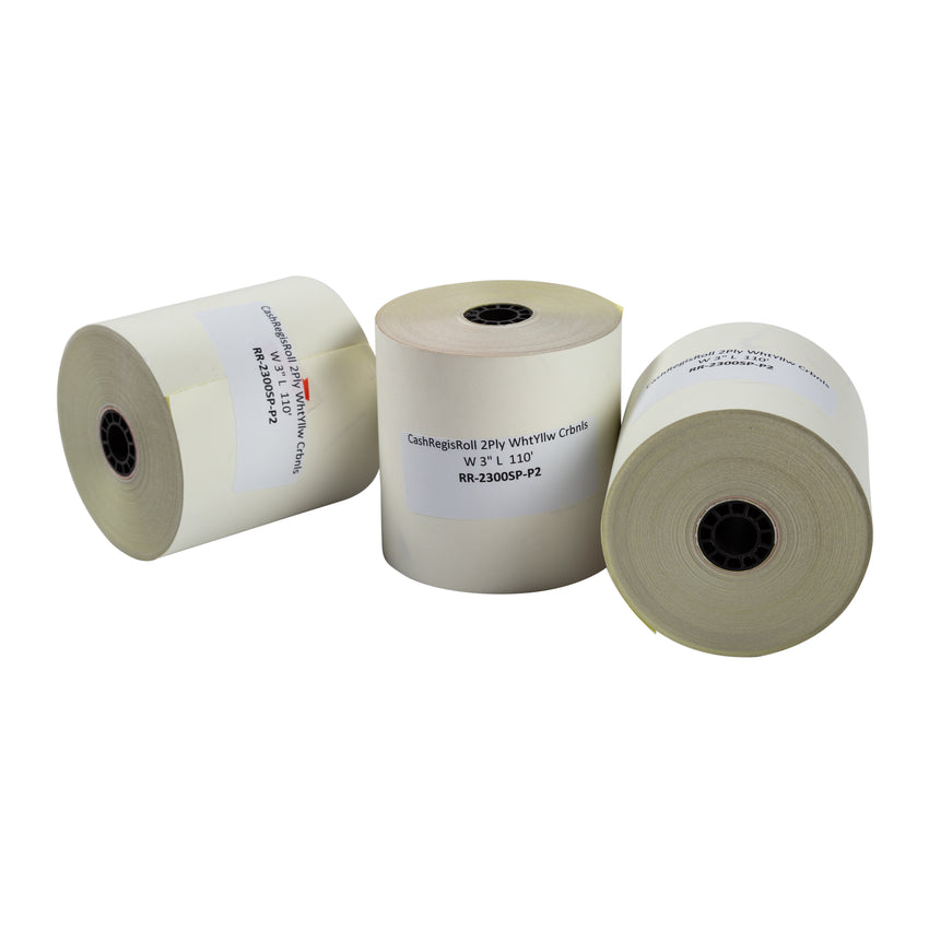 "Register Roll 2 Ply Carbonless 3""x110', Case 10x3"