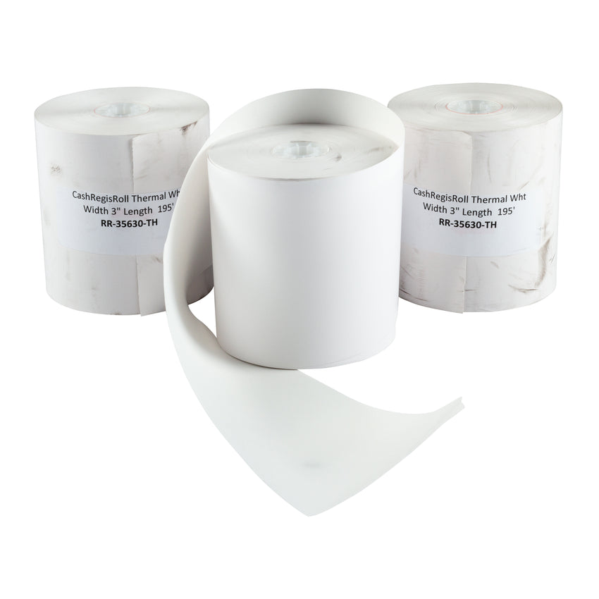 "Register Roll Thermal Paper 3""x195', Case 10x5"